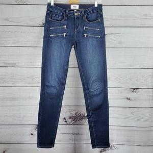 Paige• 26 jeans Edgemont mid rise zipper accents